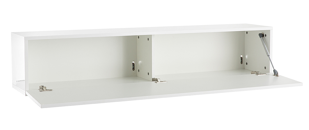 TV-Wandelement horizontal glänzend weiß lackiert ETERNEL