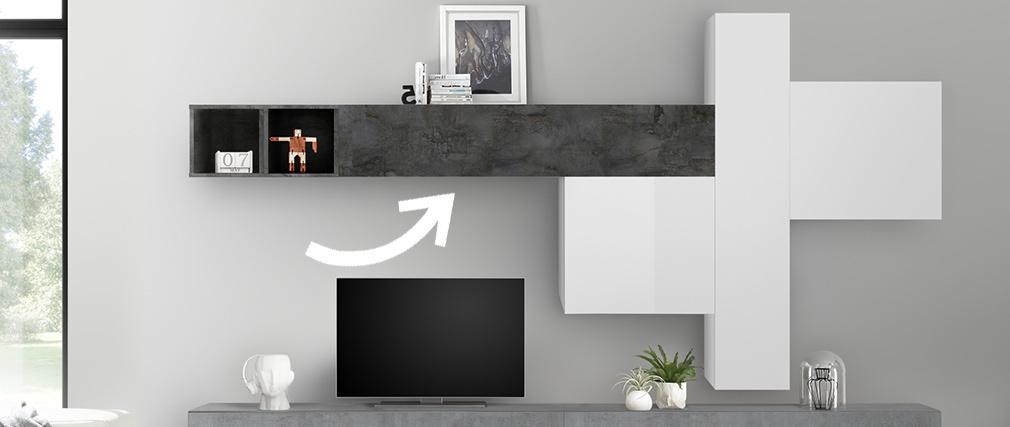 TV-Wandelement horizontal Oberfläche Rostoptik ETERNEL