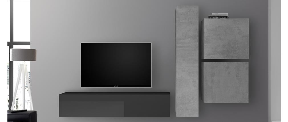 TV-Wandelement vertikal Oberfläche Betonoptik ETERNEL