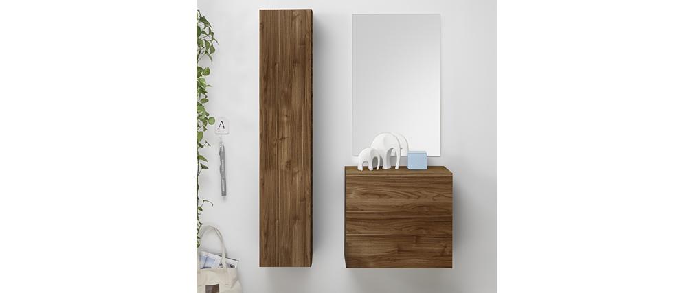 TV-Wandelement vertikal Oberfläche Holz dunkel ETERNEL