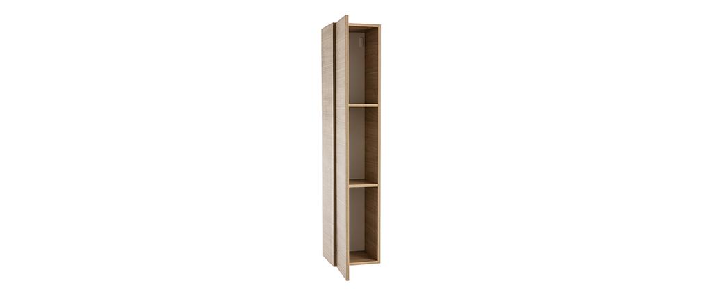 TV-Wandelement vertikal Oberfläche Holz hell ETERNEL