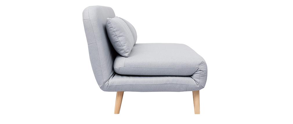 Umwandelbarer 2-Sitzer AMIKO aus hellgrauem Gewebe