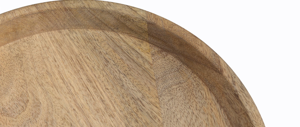 Verschachtelungs-Couchtische aus massivem Mangoholz und Metall PYTA