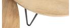 Verschachtelungstische rund aus massivem Mangoholz und Metall (2er-Satz) VIBES