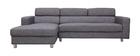 Verstellbares Design-Ecksofa (Ecke links) PORTLAND Grau