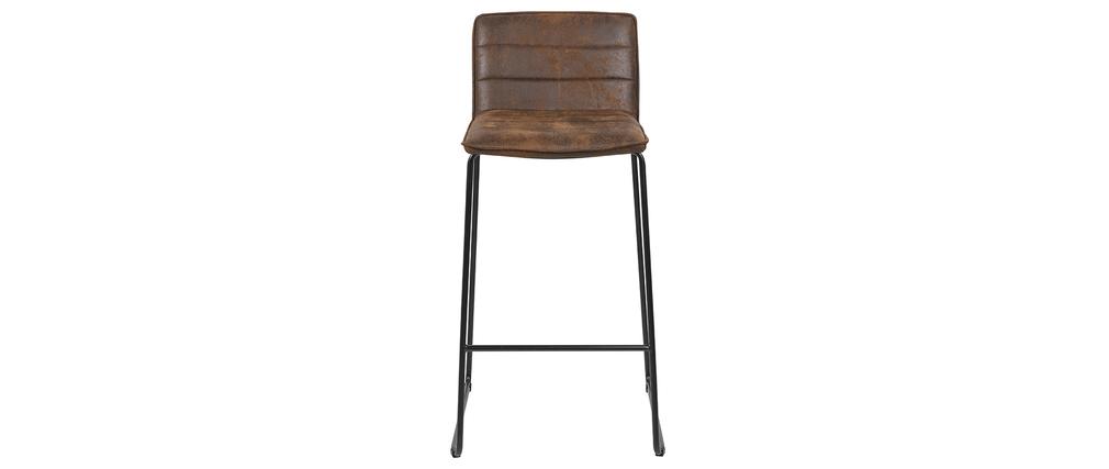 Vintage-Barhocker braun (2er-Set) CLINT