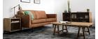 Vintage-Ledersofa Beige 2 Sitzplätze ASPEN