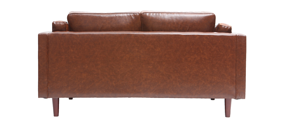Vintage-Ledersofa Braun 2 Sitzplätze CURTIS