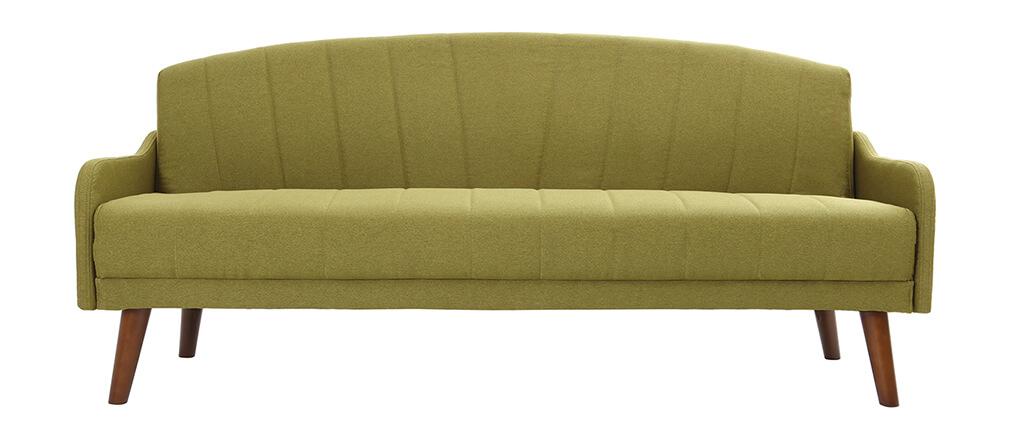 Schlafsofa grün  Vintage-Schlafsofa 3 Plätze Grün ARYA - Miliboo