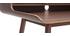 Vintage Schreibtisch aus Nussbaumholz 3 Schubladen L110 cm OPUS