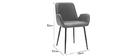 Vintage-Sessel Hellbraun mit schwarzen Metallbeinen (2er-Set) TIKA