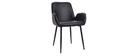 Vintage-Sessel mit schwarzen Metallbeinen (2er-Set) TIKA