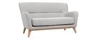Vintage-Sofa 2 Plätze Hellgrau MARKUS