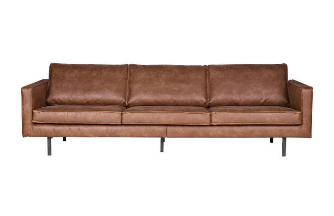 Ecksofa kunstleder vintage  Vintage-Sofa Braunes Leder 3 Sitzplätze ASPEN - Kunstleder - Miliboo