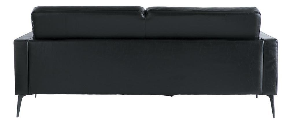 Vintage-Sofa Schwarz 3 Sitzplätze RICCI