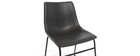 Vintage-Stuhl PU Schwarz NEW ROCK