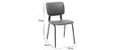 Vintage-Stühle Hellbraun mit Beinen aus schwarzem Metall 2er-Set LAB