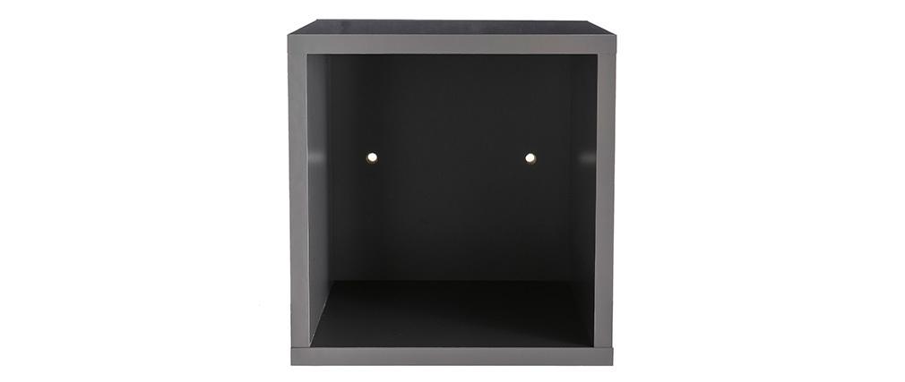 Wandelemente quadratisch glänzend grau lackiert (2er-Set) ETERNEL