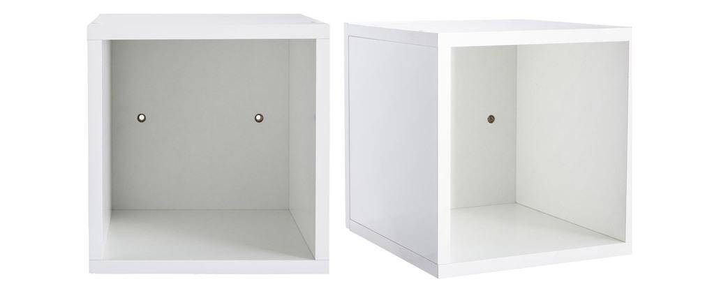 Wandelemente quadratisch glänzend weiß lackiert (2er-Set) ETERNEL
