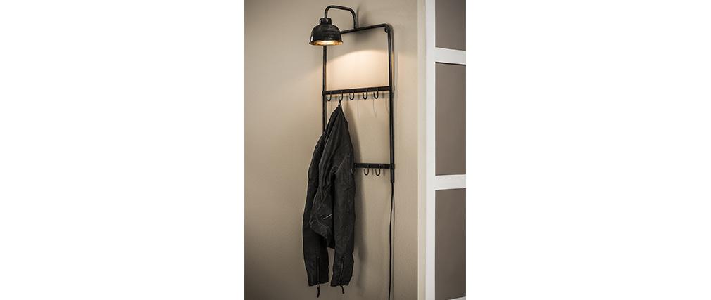 Wandgarderobe mit Lampe aus Metall Vintage MOBY