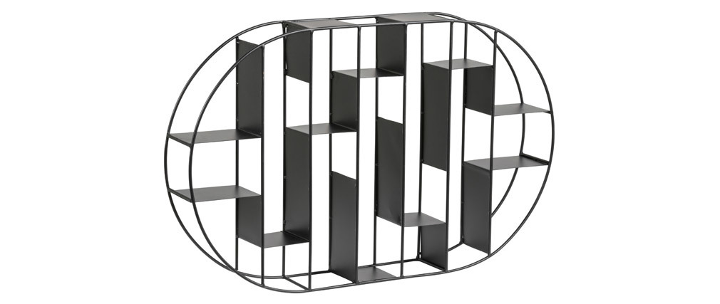 Wandregal aus schwarzem Metall OXO