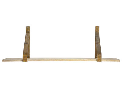 Wandregal Metall Rost und Holz 80cm MODO