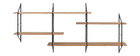 Wandregal XL Holz und Metall BRIDGE