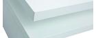 Weiß lackierter Design-Couchtisch L100 cm HALTON