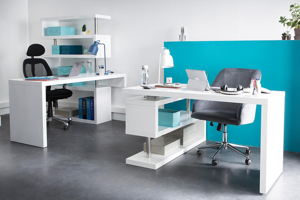 Wei lackierter designer schreibtisch max miliboo for Schreibtisch designer