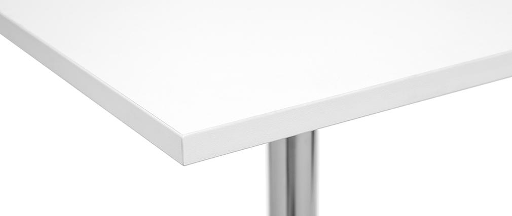 Weißer quadratischer Design-Bartisch JACK