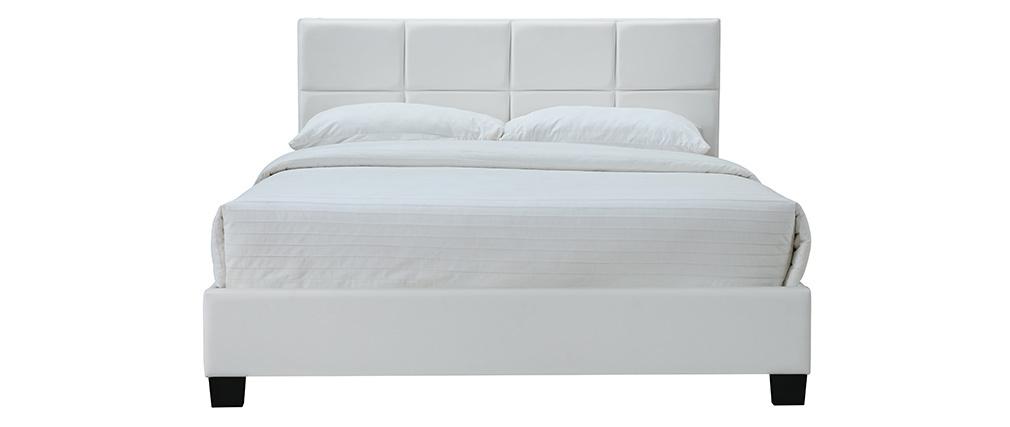 Weißes Bett für Erwachsene SOLAL 160 x 200 cm