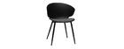 Zeitgenössischer Stuhl Schwarz und Grau WING